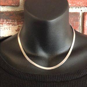 Silver Tone Necklace Chocker